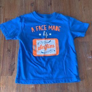 "Toughskins Boys 2T ""A Face Made for Selfies"" Shirt"